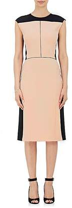 Narciso Rodriguez Women's Colorblocked Wool Twill Sheath Dress