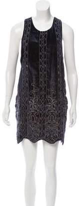 Haute Hippie Embroidered Velvet Dress w/ Tags