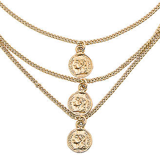 joolz by Martha Calvo Triple Tribute Coin Necklace