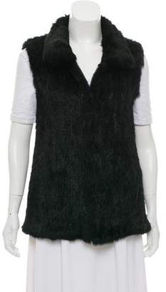 Pologeorgis Fur Mock Neck Vest