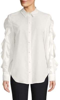 Saks Fifth Avenue Ruffled Sleeve Button-Down Shirt