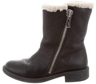 Gucci Girls' Shearling-Lined Ankle Boots