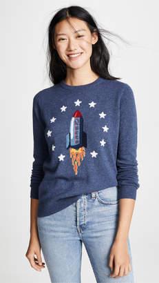 Autumn Cashmere Queen Rocket Intarsia Cashmere Sweater