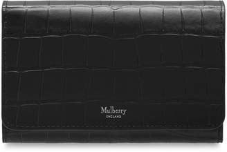 82de7f8356 Mulberry Small Continental French Purse Black Matte Croc