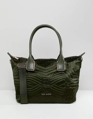 Ted Baker Quilted Bow Mini Tote Bag
