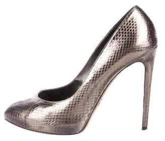 Dolce & Gabbana Metallic Snakeskin Pumps