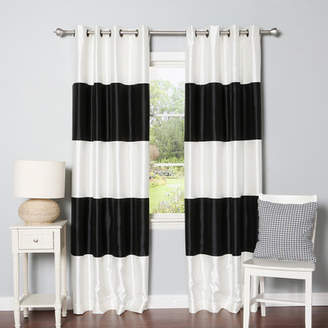 Best Home Fashion Best Home Fashion, Inc. Grommet Striped Blackout Thermal Curtain Panels