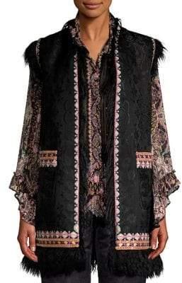 Etro Embroidered Beaded Vest