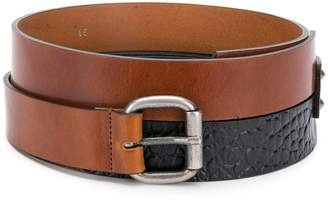 Nude double belt