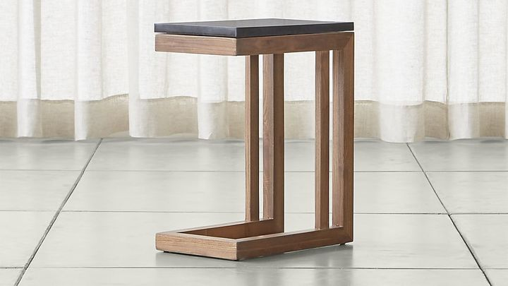 Crate & BarrelParsons Elm C Table with Black Marble Top