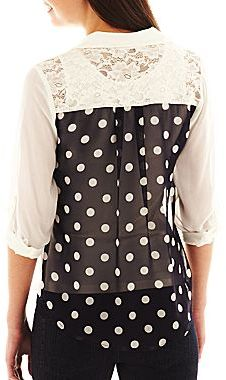 JCPenney by&by Print-Back Top