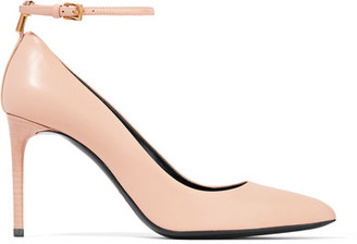 TOM FORD - Embellished Leather Pumps - Blush $990 thestylecure.com
