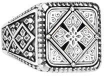 Konstantino Men's Sterling Silver Classics Signet Ring, Size 10
