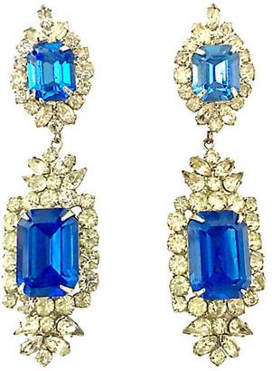 One Kings Lane Vintage Austrian Crystal & Glass Earrings - Jacki Mallick Designs