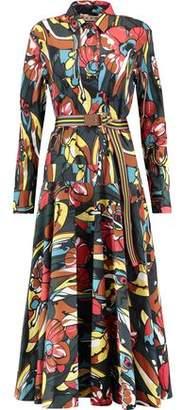 Marni Printed Cotton-Poplin Shirt Dress