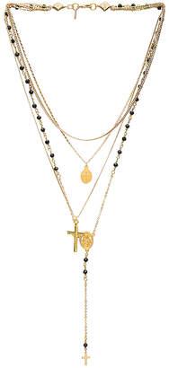 Vanessa Mooney Multi Layered Chain & Stone Rosary