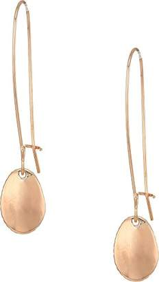 The Sak Women's Elongated Hoop Drop Earrings