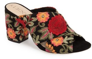 Women's Sole Society Luella Flower Embroidered Mule $47.96 thestylecure.com