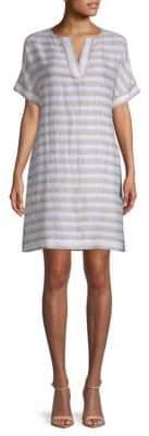 Lafayette 148 New York Nazeen Two-Tone Striped Dress