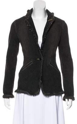 See by Chloe Distressed Long Sleeve Jacket