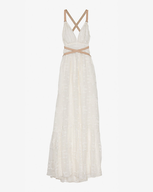 Twelfth St. By Cynthia Vincent By Cynthia Vincent Leather Strap Embroidery Dress