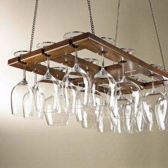 Wine Enthusiast Hanging Glass Rack