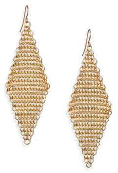 ABS by Allen Schwartz Chain Mesh Drop Earrings