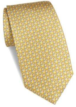 Salvatore Ferragamo Silk Fox Print Tie