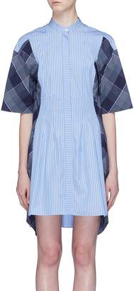 Stella McCartney Check plaid panel stripe shirt dress