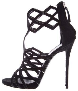 Giuseppe Zanotti Coline 110 Laser-Cut Sandals
