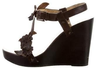 Dolce & Gabbana Floral Wedge Sandals