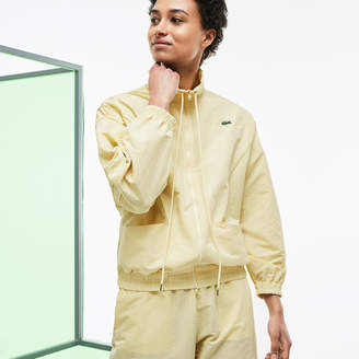 Lacoste Women's Fashion Show Technical Canvas And Mesh Zippered Jacket