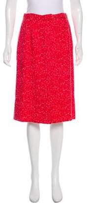 Marc Jacobs Linen-Blend Abstract Print Skirt