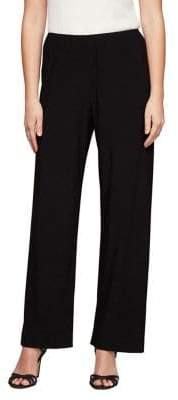 Alex Evenings Plus Jersey Straight-Leg Pants