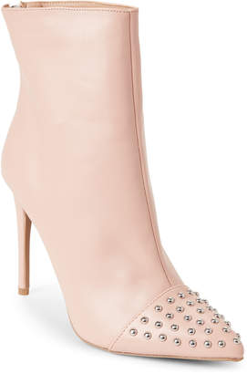 Wild Diva Lounge Nude Giselle Studded Pointed Toe Booties