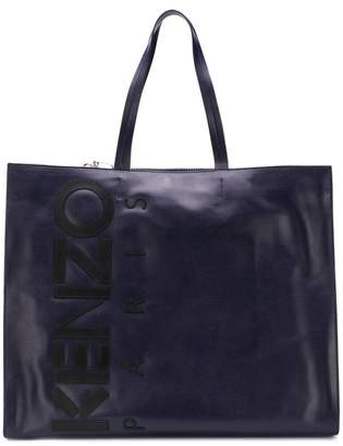Kenzo printed logo tote bag