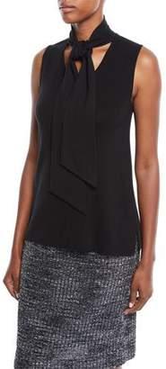 Misook Sleeveless Knit Top w/ Tie Detail, Plus Size