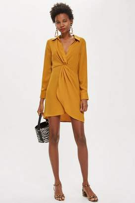 Topshop Twist Front Mini Dress