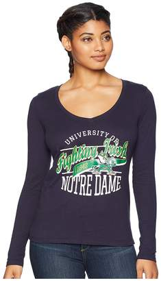 Champion College Notre Dame Fighting Irish Long Sleeve V-Neck Tee Women's Long Sleeve Pullover