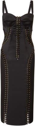 Dolce & Gabbana Lace-Up Stretch Crepe Dress