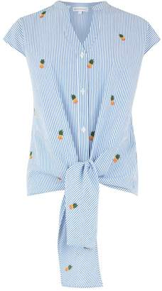 Warehouse Pineapple Tie Front Shirt