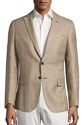 Saks Fifth Avenue Men's COLLECTION Basket-Weave Wool& Silk Jacket