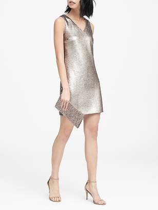 Banana Republic Sequin V-Neck Shift Dress