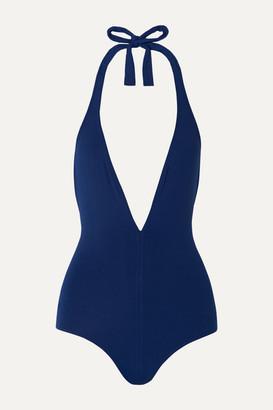 Eres Les Essentiels Cachette Halterneck Swimsuit - Navy