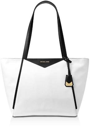 MICHAEL Michael Kors Whitney Large Top Zip Leather Tote