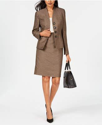 Le Suit Four-Button Skirt Suit
