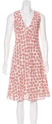 Cacharel Crepe Floral Dress