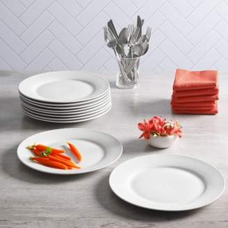Gibson Home Everyday Round White 10.5-Inch Dinner Plate, Set of 10