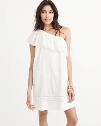 One-Shoulder Shift Dress $68 thestylecure.com