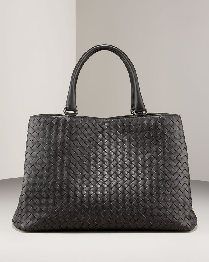 Bottega Veneta Double-Compartment Shopping Bag